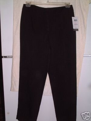 NWT's Emma James/ Claiborne Stretch Black Slacks sz 10S