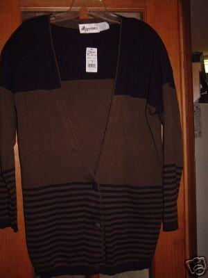 NWT's Sportables Seiferts Sweater Cardigan sz S