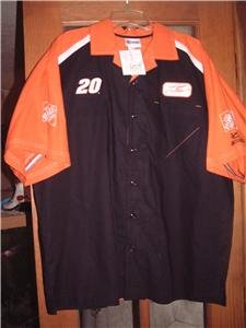 NWT's Tony Stewart Chase #20 Button Front Shirt sz L