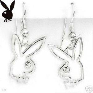 Playboy Bunny Stainless Steel Earrings NEW!