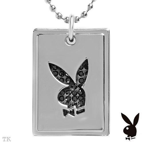 Playboy Dogtag Style Necklace Stainless Steel New!