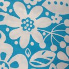 Floral Blue and White Cotton Fabric