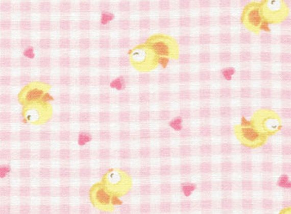 Nursery Cotton Fabric - Sweet Dreams Collection by Red Rooster Studio - Baby Chicks - Pink
