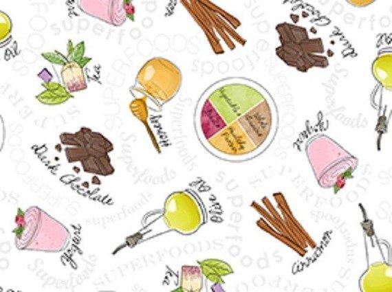 Cotton Fabric - Super Food by Studio 8