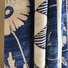 Rayon Fabric - Floral pattern - Blue