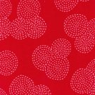Cotton Fabric - Stich Circle by Michael Miller - Red