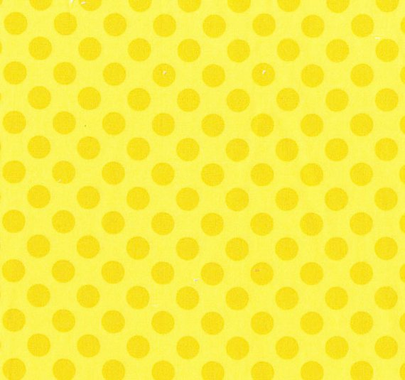 Cotton Fabric - Polka Dots by Michael Miller - Yellow