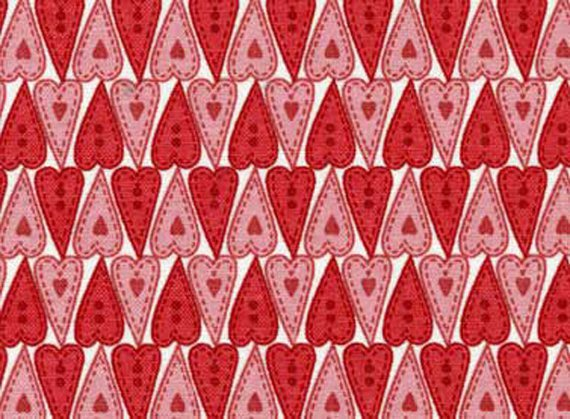 Nursery Cotton Fabric - Nice People Nice Things Collection by Helen Stubbings - Hearts