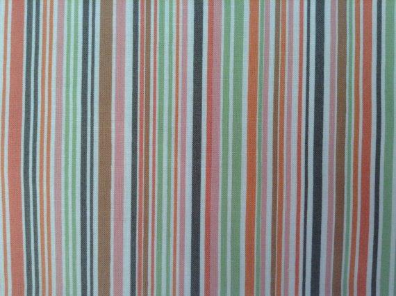 Cotton Fabric - Garden Party by Jane Dixon Patt 5374 -Stripes