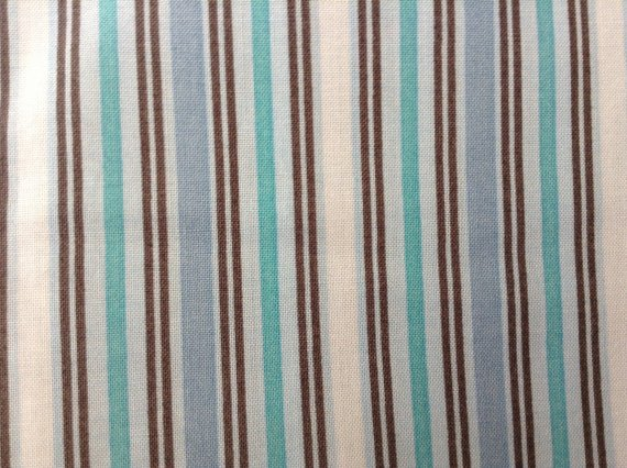 Cotton Fabric - Bethany Shackelford by Suzanne Cruise - Stripes - Blue