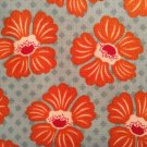 Cotton Fabric - Denise Urban by Suzanne Cruise - Orange Flowers