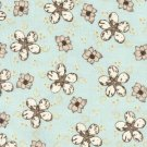 Cotton Fabric - Blossom Sprinkle on Sky - Julia's Notes by Peggy Brown - Floral