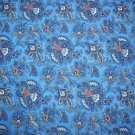 Paisley Blue Cotton Fabric
