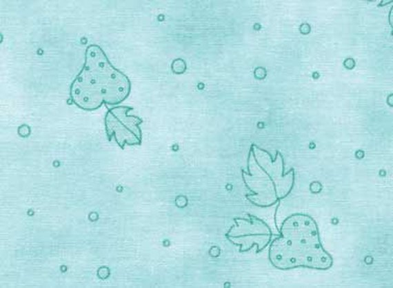 Nursery Cotton Fabric - Nice People Nice Things by Helen Stubbings - Strawberry design - Blue