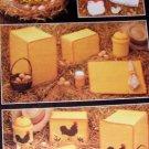 Annie's Attic Chicken Kitchen Set, Crochet Cute Chicken Pot Holders, Toaster Covers