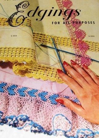 Edgings, Lace Vintage Crochet  1952 pattern booklet Beautiful Laces