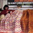 Ripple Afghans Crochet Knit Retro Pattern Knitting Crocheting AFGHAN American School of Needlework