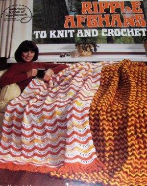 Retro Pattern Knitting Crocheting AFGHAN American School of Needlework
