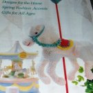 Annie's Crochet Newsletter No. 38 Heirloom Bib, Butterfly Potholder Lace Gloves
