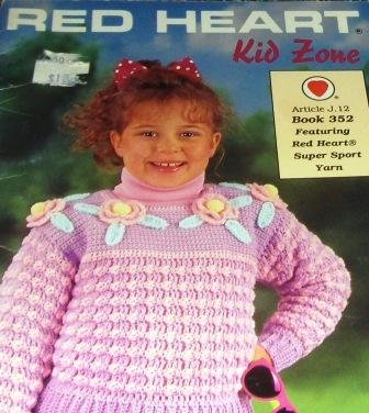 Kid Zone Red Heart Pattern Crochet Sweaters for Children Lion Sweater 5 styles