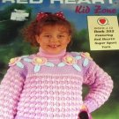 Crochet Colorful Sweaters for Children, patterns for 5 styles including a Lion Sweater!