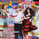 Crochet World October 1990 issue Fashion Doll clothes, afghans, school sweaters