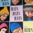 Hats Berets Beanies Vintage Knitting Crochet Pattern Hats Hats Hats from Bernat 165 Berets