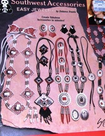 Southwest Accessories Easy Jewelry to make using pony beads, conchos and bandanas