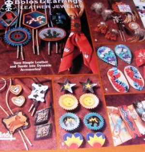 Jewelry Pattern Bolos and Earrings Leather Jewelry Designs Pattern