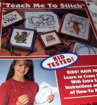 Learn to Cross Stitch for Children, Kid tested, extra easy instructions, lots of how-to photos