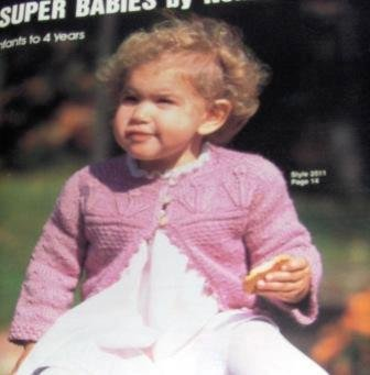 Nomis Super Babies Booklet , Knitting patterns for baby cardigans and pullovers, 11 styles