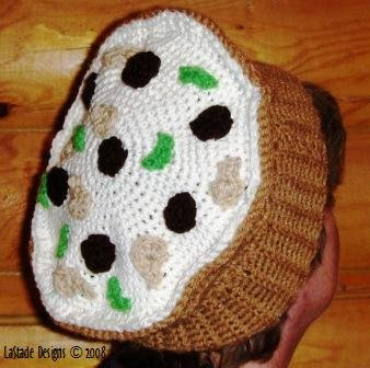 Pizza Hat Crochet Pattern Instructions for PIZZA BERET, Novelty Hat, Easy to Crochet LaStade-Designs