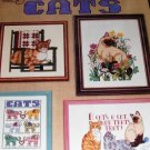 Cats Kittens Kitty Cat  Cross Stitch Charts from American School of Needlework