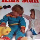 Kid's Stuff Crochet Knit Patterns Babies Hooded Jacket, Bunny Slippers, Kitten Bath Mitt Lily 500B
