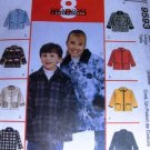 Fleece Jacket Sewing Pattern for Child size 10, 12  from McCalls, no. 9593 Polar Gear