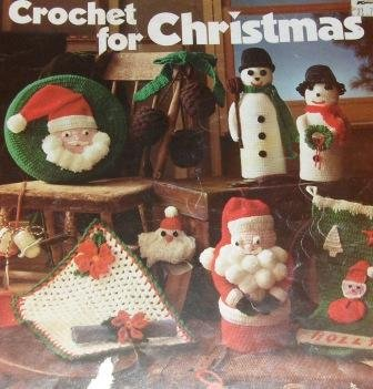 Crochet for Christmas Leisure Arts Crochet Pattern 81 Snowflakes Stocking Snowman Santa pillow