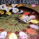 Floral Doilies to crochet  Vintage thread Crochet Pattern featuring flowers Coats and Clarks 268