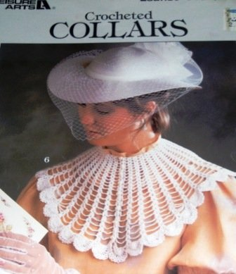 Crochet pattern Thread crochet collars Designs by Eunice Svinicki Leisure Arts 446 Filet Rose, Motif