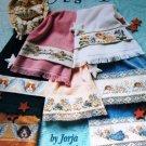 Cross Stitch Pattern ANGEL TOWELS dog angels, cat angels, musical, patriotic, Valentine angels