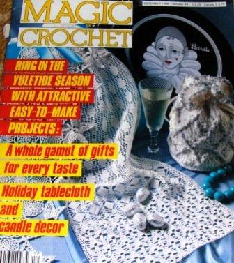 Magic Crochet Pattern Magazine Number 45 December 1986, Flower doilies, bedspread, curtains, pillows