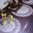Doilies Zinnia Ruffled Filet Rose Vintage thread Crochet Pattern Lily Design book 67