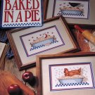 Cross Stitch Pattern Baked In an Apple Pie Leisure Arts Country Style for Pictures, Bread Cloth