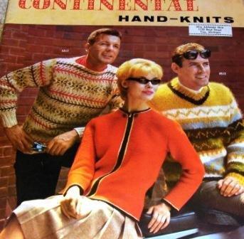 Vintage Knitting Pattern Fair Isle Ski Sweaters Continental Hand Knits Men Women Sweater Patterns