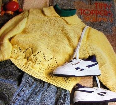 Baby Knitting Pattern Babies Infants Sweaters  Patons Tiny Toppers Volume 2