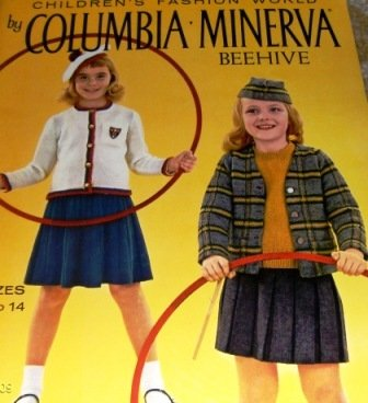 Columbia Minerva 740 Fair Isle Knitting Pattern child Scottish Plaid Sweater Socks, Hats