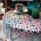 Annie's Crochet Newsletter No. 67 Flower Tablecloth Afghan Kitchen Towel Gardenia