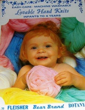 Vintage Children Infants Knitting Pattern Booklet Babies Afghans Lovable Hand Knits Booties Bonnets