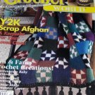Crochet World Feb. 2000 Crochet Patterns Scrap Afghan, Native American Air Freshener Doll