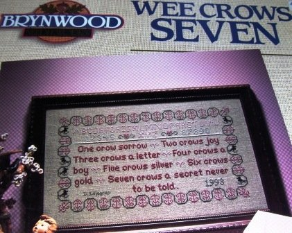 Wee Crows Seven Cross stitch pattern Brynwood counted cross stitch by Donna Liljegren