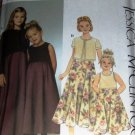 Flower Girl, Jr. Bridesmaid Dress Jessica McClintock Pattern Simplicity  9018 Size 7 to 14